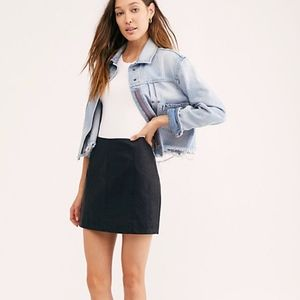 Free People Modern Femme Vegan Leather Skirt